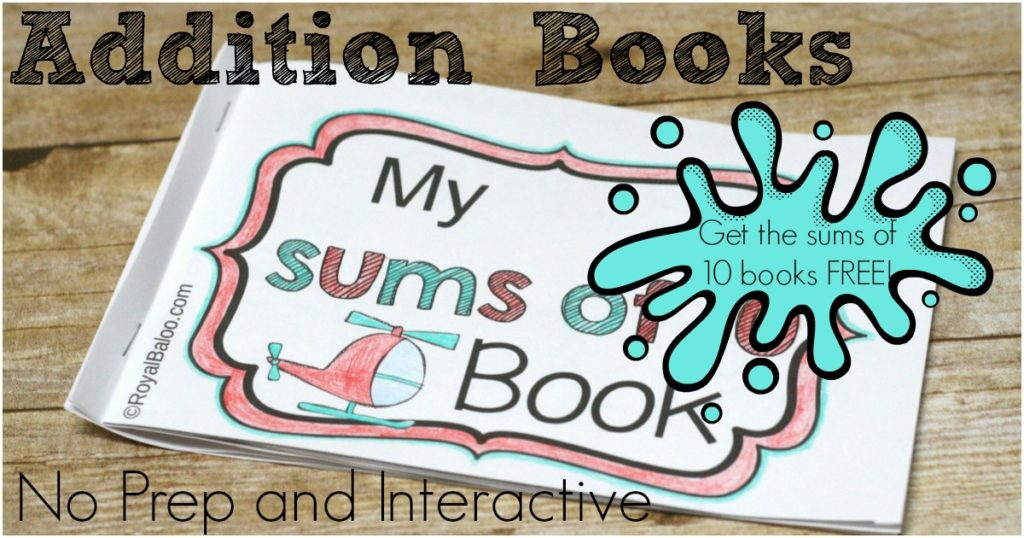 Practice addition sums with fun no prep and interactive booklets. The sums of 10 booklet is now available for free!