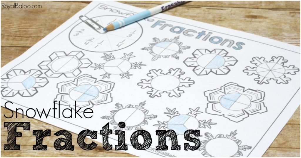 Beginner fractions to slightly more advanced fractions! Snowflake fractions spinner pages make learning fractions more fun!