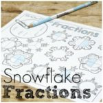 No Prep Snowflake Fractions for Beginners