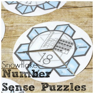 Wintery Number Sense Fun with Snowflake Puzzles
