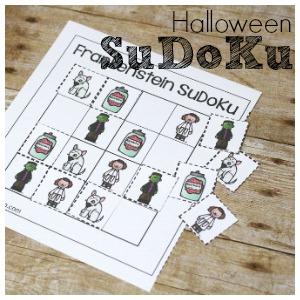 Spooky Halloween SuDoKu Free Printable for Kids