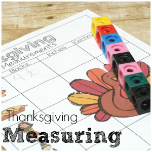 Hands On Measuring Fun with Thanksgiving Measuring Set