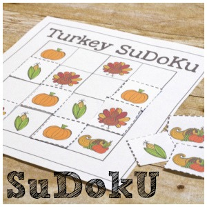 Thanksgiving SuDoKu Logic Games for Kids