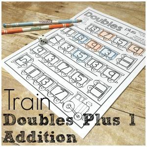 Fun Addition Fact Practice – Train Doubles Plus 1