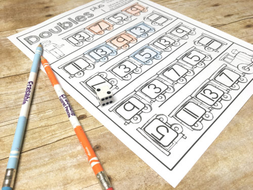 Practice addition facts and work on memorization with this train doubles plus 1 pack!  Also includes a doubles only page.