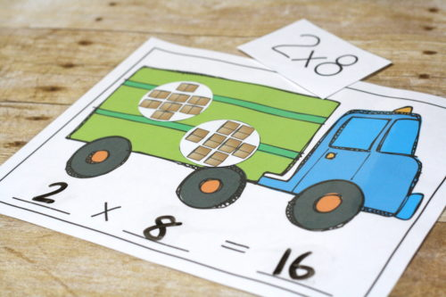 Transportation multiplication! Teach beginning multiplication with a fun transportation theme. Multiplying doesn't have to be hard!