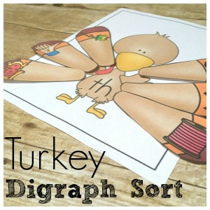 Turkey Digraph Sort: Gobble Up Reading Fun