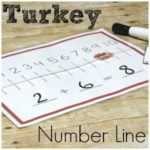 Turkey Number Line for Hands on Addition Fun