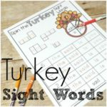 Gobble Gobble: Turkey Spin a Sight Word Printables