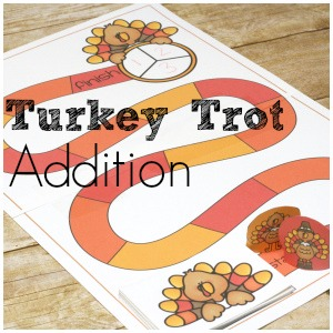 Free Thanksgiving Addition Game – Turkey Trot Addition