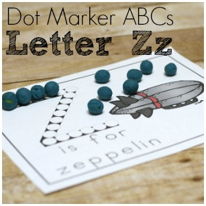 Learn ABCs with Letter Zz Dot Marker Printables