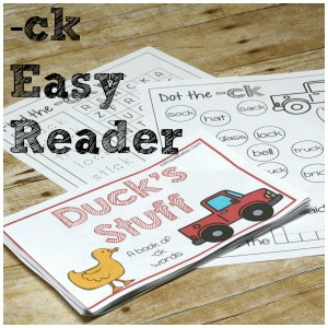 Duck & Truck ck Easy Reader Book For Beginning Readers