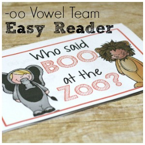 Have a beginning reader?  This fun vowel team easy reader is all about the vowel team oo!  Cute graphics, easy words, and a confidence boost for little readers.