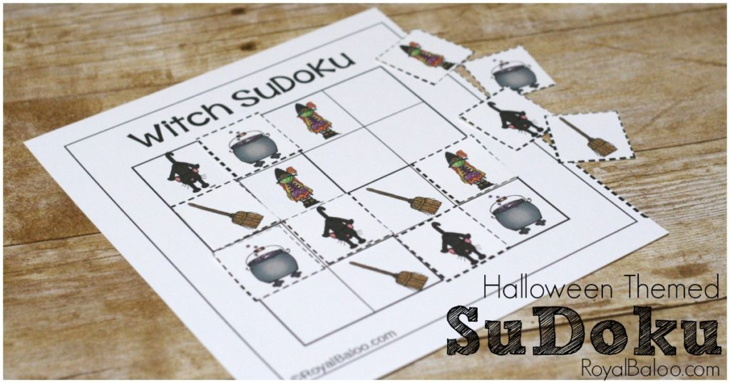 image relating to Printable Sudokus for Kids titled Spooky Halloween SuDoKu Totally free Printable for Children - Royal Baloo