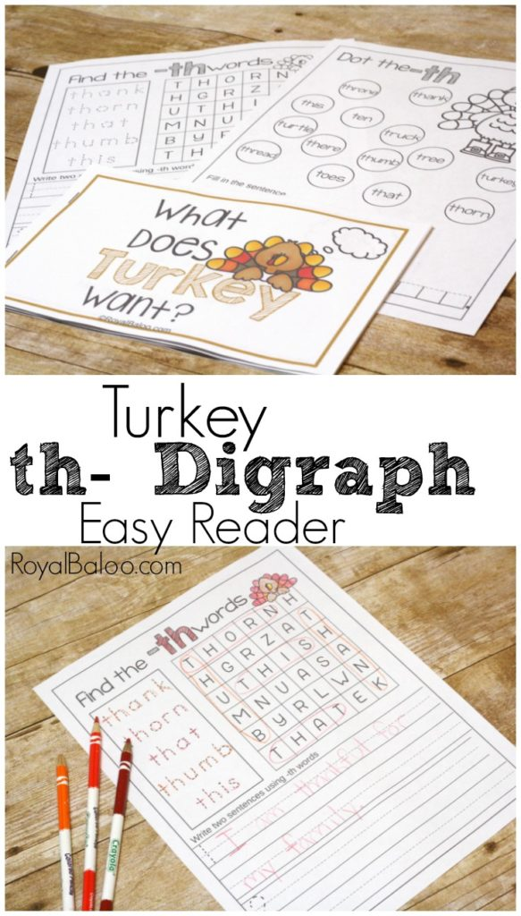 Practice digraphs with this simple turkey digraph easy reader!  Perfect for thanksgiving!
