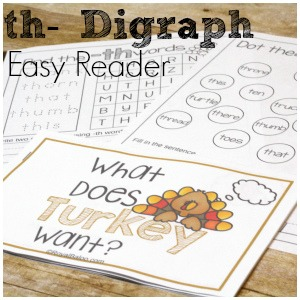 Silly Thanksgiving Digraph Easy Reader Printable