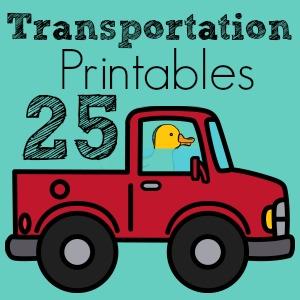 Transportation Printables Bonanza – 25 Free Printables
