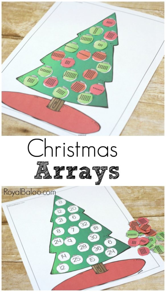Practice multiplication with a fun Christmas tree theme!  Christmas tree arrays make learning multiplication a breeze (and a fun breeze at that).
