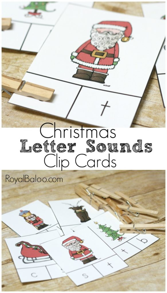 Practice letter sounds with a fun Christmas Letter Sounds Clip Card set.  Clip the correct letter sound on the clip card to win!