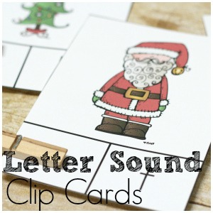 Christmas Letter Sound Practice with Clip Cards