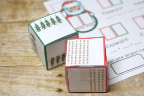 Place value practice is more fun with a theme like Christmas!  Roll the dice and practice place value with the christmas place value set!