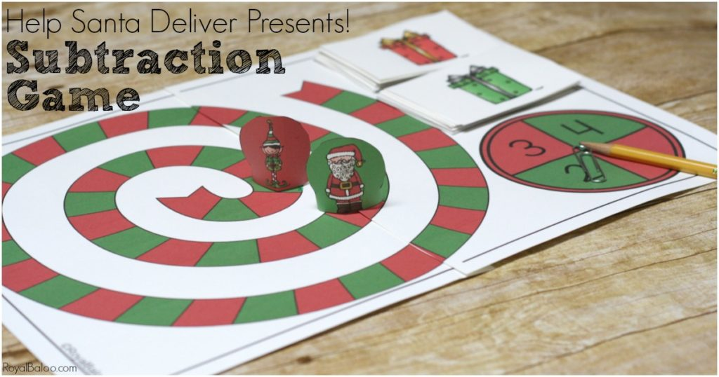 Santa\'s Helper Subtraction Game - Christmas Subtraction Game - Royal ...