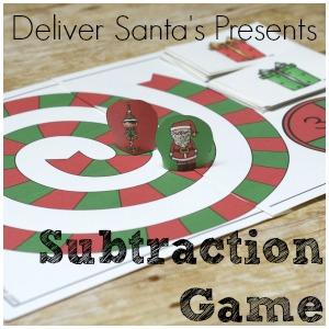Santa's Helper Subtraction Game – Christmas Subtraction Game