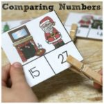 Santa Clip Cards for Comparing Numbers