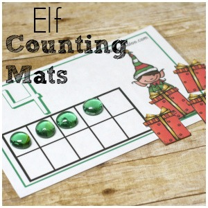 Counting and simple addition are more fun with 10 frame counting mats! Even better - elf counting mats! Work on numbers 1-10 and addition to 10 with these free printables!