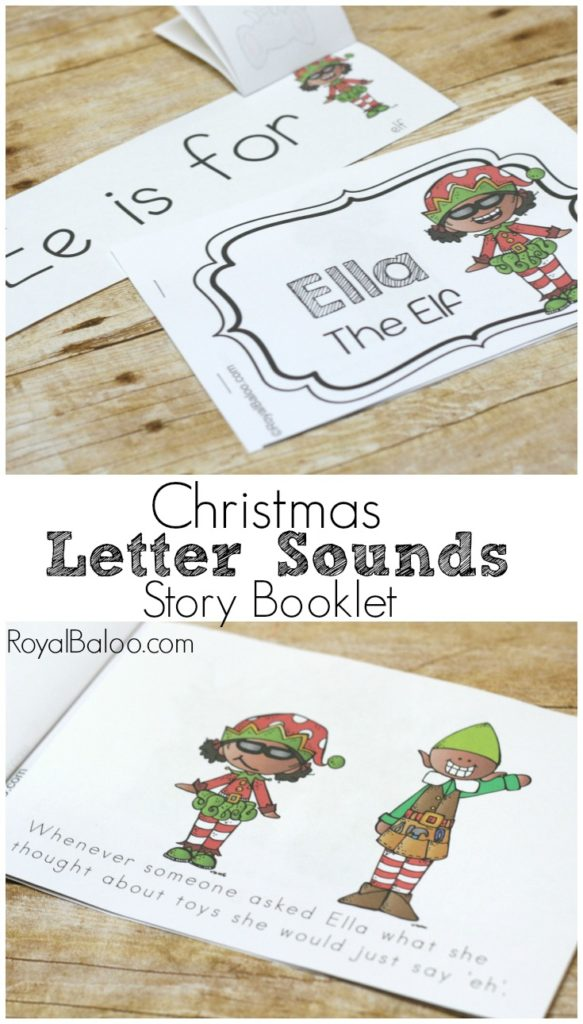 Ella the Elf features the letter sound for short e in this cute Christmas Letter Sound booklet and story!  Learn the letter sounds with a fun twist!