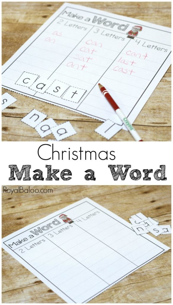 Writing is more fun with a theme! This Christmas Make a Word set is great for practicing spelling, reading, and writing! And it's free.