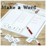 Fun Christmas Make a Word for Spelling Practice