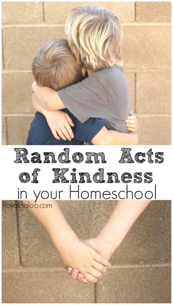 We all want to do more random acts of kindness but fitting them into our day can be difficult!  Especially when homeschooling! Find some easy ways to incorporate RAKs.