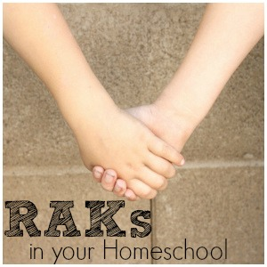 Random Acts of Kindness in your Homeschool Day