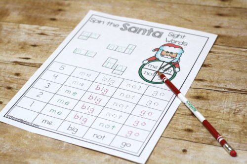 Sight words are more fun with Santa and spinners!  Don't miss this Santa Sight Word set with the fun spinner in the mix!