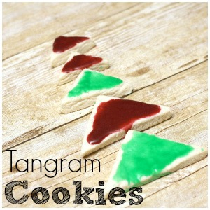 Christmas Tangram Cookies for STEAM Fun