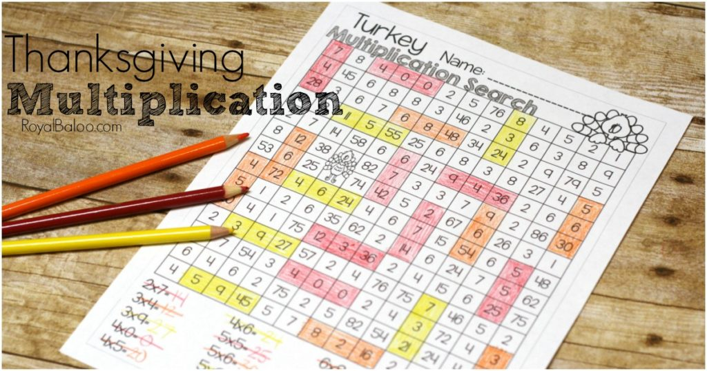 No Prep Thanksgiving Multiplication for Better Fact Practice - Royal ...