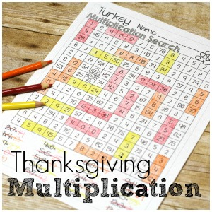 No Prep Thanksgiving Multiplication for Better Fact Practice