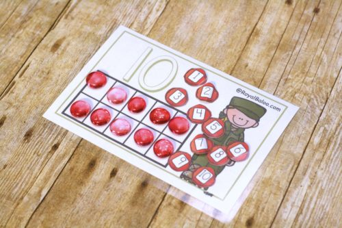 Celebrate learning on Veteran's Day with some fun Veterans Day Counting Mats!  Practice subitizing, addition, subtraction, and more!