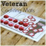 Counting Mat Fun Free Printable for Veterans Day