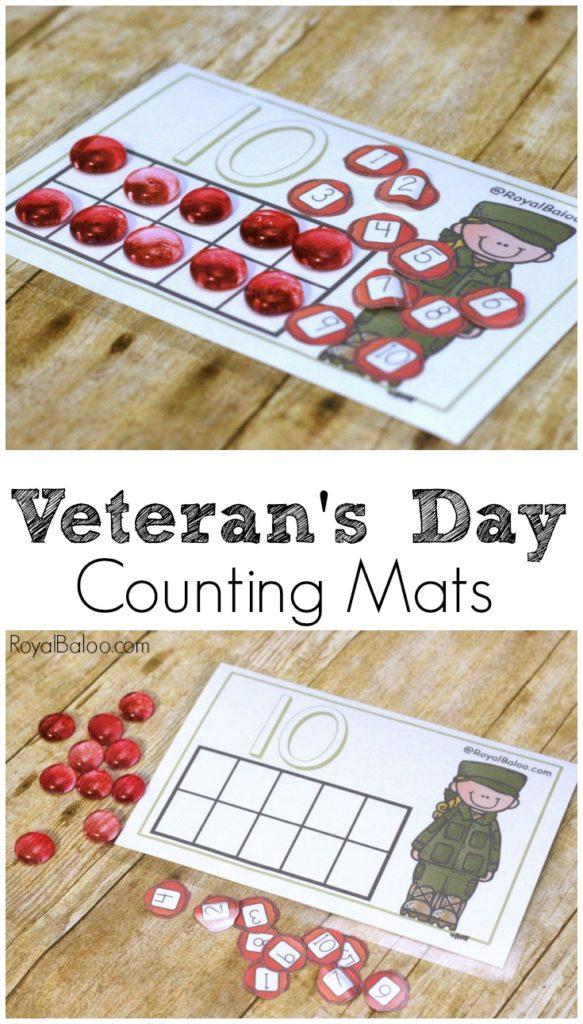 VeteransDayCountingMat 583x1024 - Veterans Day For Kindergarten