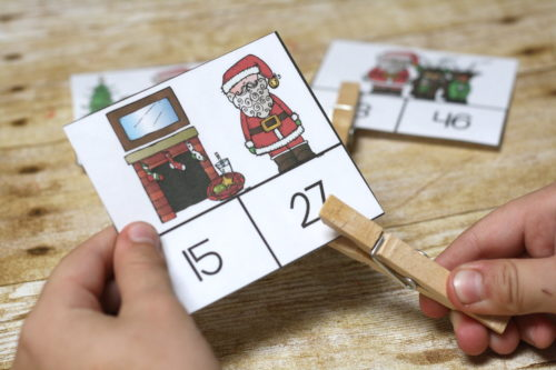 Practice comparing 1 digit and 2 digit numbers with these fun Santa Clip Cards! Christmas themed for extra math fun during this holiday season.