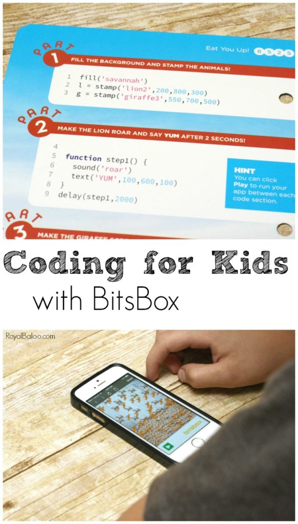 Coding for kids is fun when it comes in a monthly box!  Get your kid the gift of coding with BitsBox.  Simple instructions for budding coders,