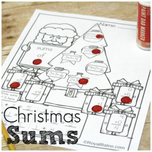 Everything is better with a Christmas theme, right? Why not practice sums and addition with a fun Christmas page! Christmas sums are just better.