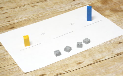 Missing Addend with LEGO.  Help kids understand why we complete missing addend addition the way we do!