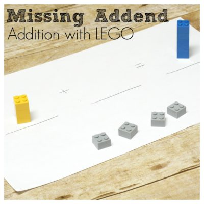 Missing Addend Addition with LEGO