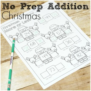 No Prep Christmas Addition Pack