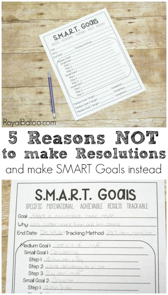 Resolutions are for broken promises - Goals are the way to achieve your dreams. Use this simple page to organize and achieve your goals.