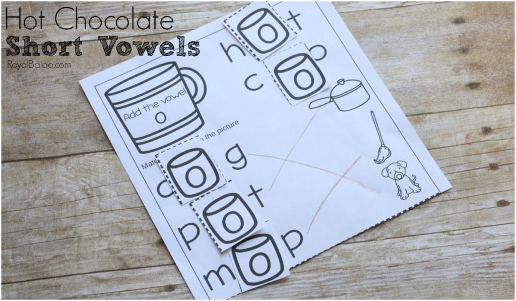 Practice reading and sounding out words with the hot chocolate short vowel pages!  Simple not prep page for reading practice!