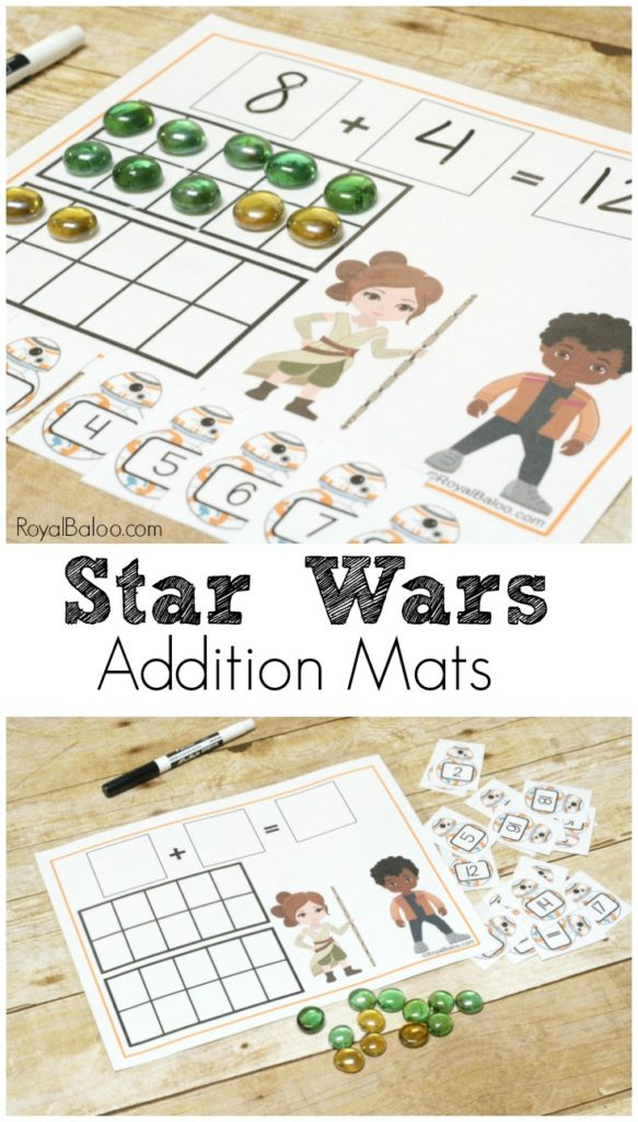 Get your kids to practice addition with Star Wars Addition Mats!  Star Wars entices kids to practice their math facts - it's magic like that.